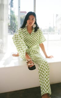 Holiday The Label Checkered Pyjama Olive set 4 Preview Images