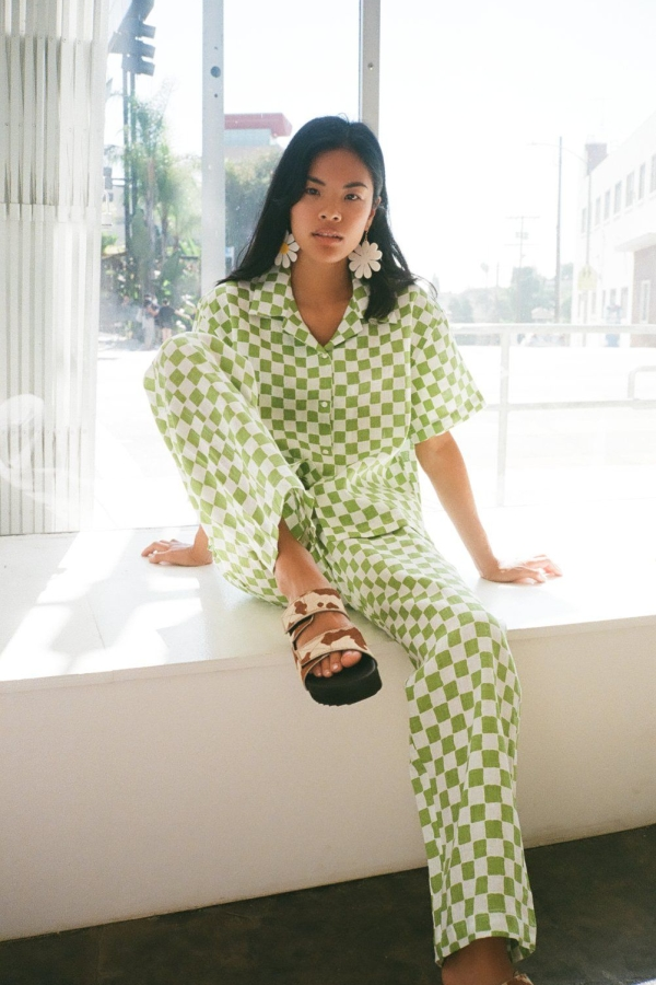 Holiday The Label Checkered Pyjama Olive set 4