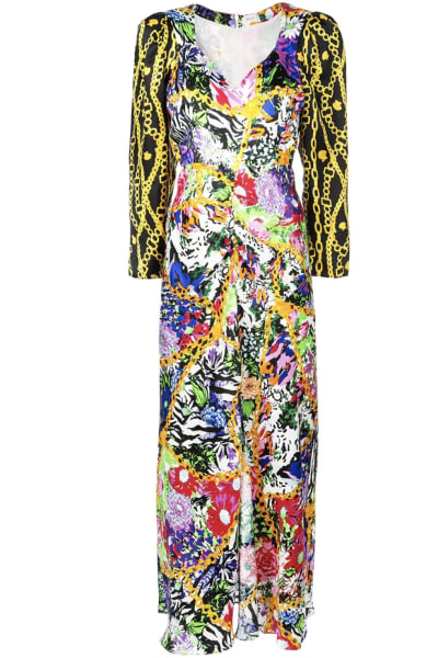 RIXO London Floral and Chain