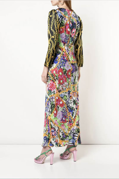 RIXO London Floral and Chain 3