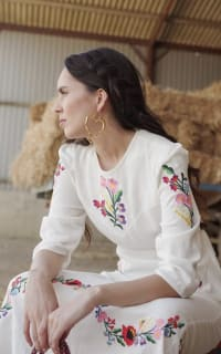 RIXO London Olivia Floral Embroidery dress 6 Preview Images