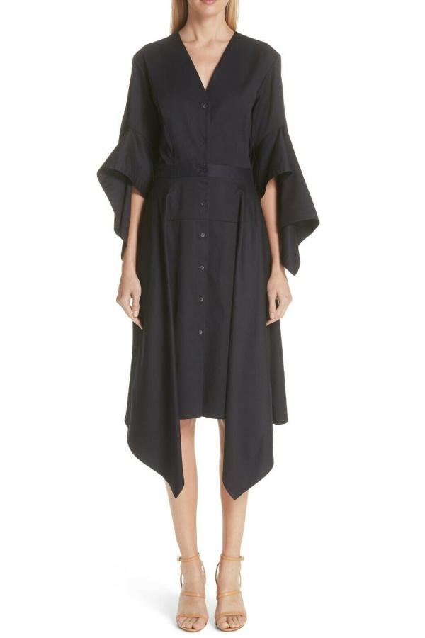 Palmer Harding  Asymmetric Sleeve Shirt Dress