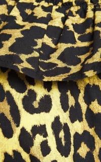 Ganni Leopard ruffled poplin dress 4 Preview Images