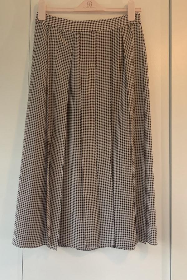 Image 2 of Joseph check pleat midi skirt
