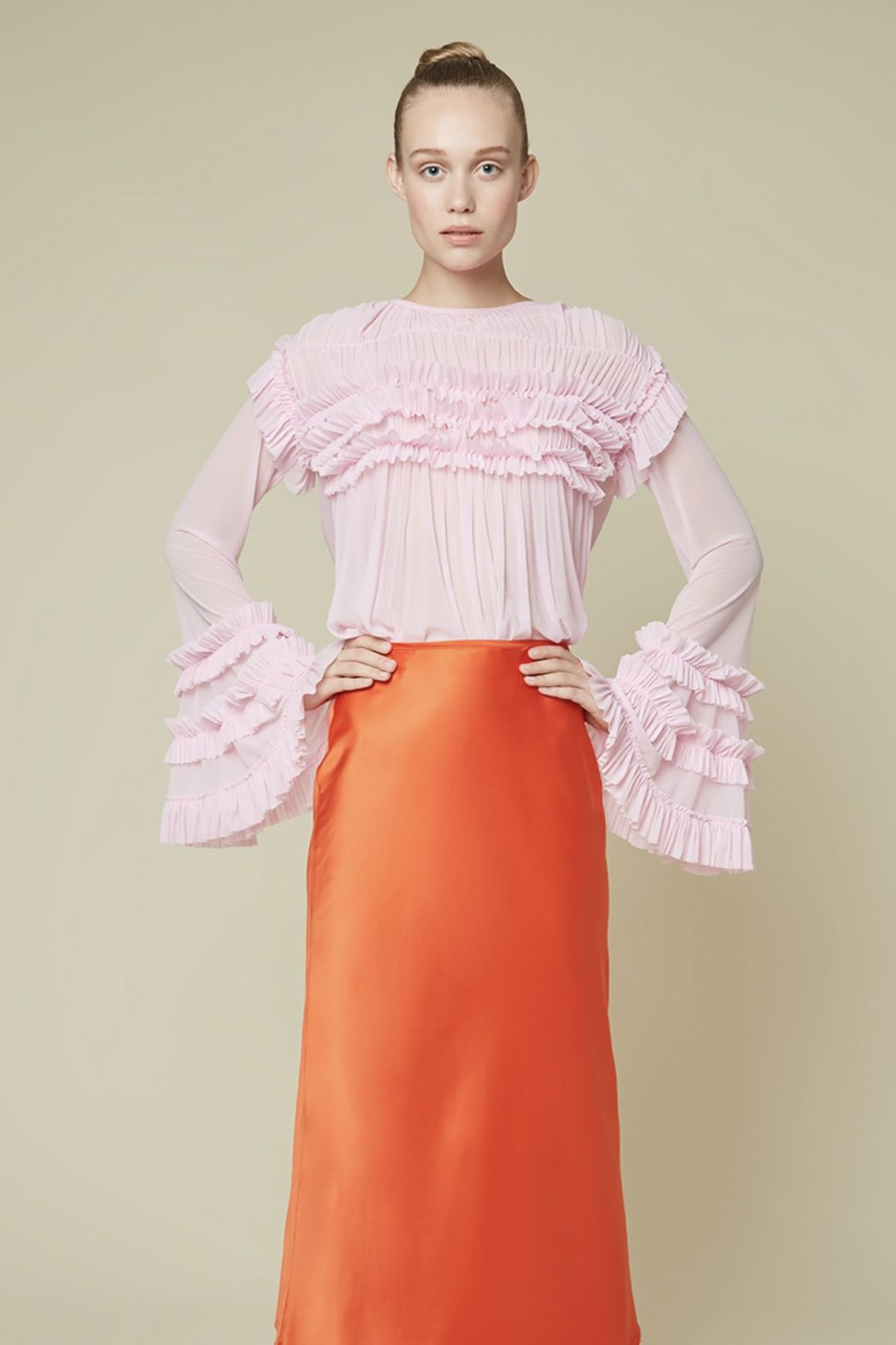 Esthé Full-sleeve ruffle blouse 5 Preview Images