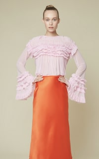 Esthe Full-sleeve ruffle blouse 5 Preview Images