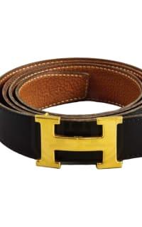 Hermès Black & Tan Constance Belt  2 Preview Images