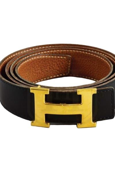 Hermès Black & Tan Constance Belt  2