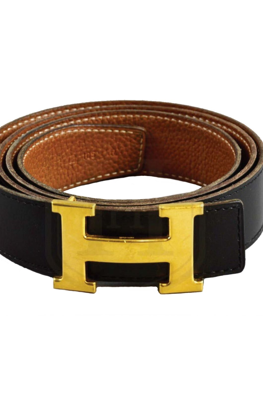Hermès Black & Tan Constance Belt  Preview Images