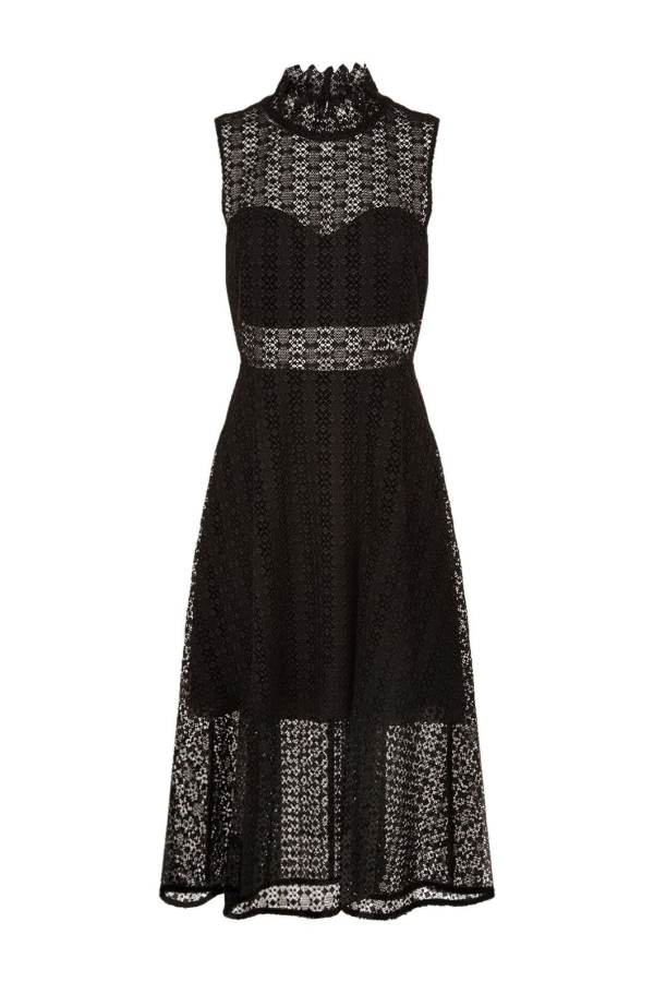 Sandro Black Panel Midi Dress