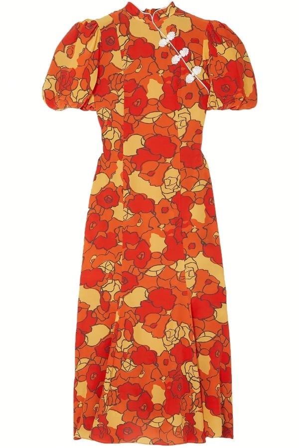 Image 1 of De La Vali bluebell floral-print dress