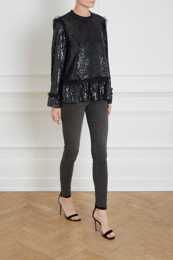 Needle & Thread Gloss sequin top 2