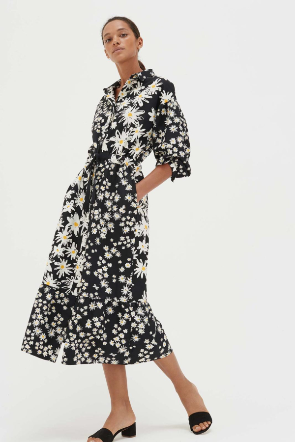 CHINTI & PARKER Daisy Floral Shirt Dress 1 Preview Images