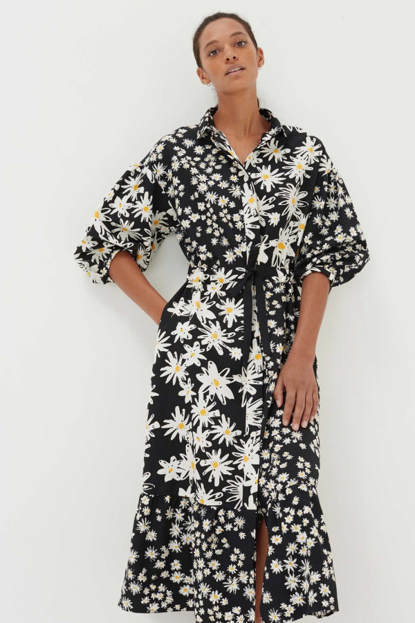 CHINTI & PARKER Daisy Floral Shirt Dress 3 Preview Images