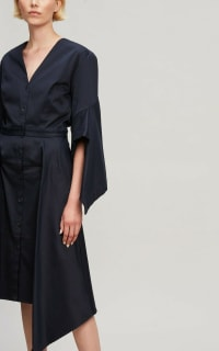 Palmer Harding  Asymmetric Sleeve Shirt Dress  4 Preview Images