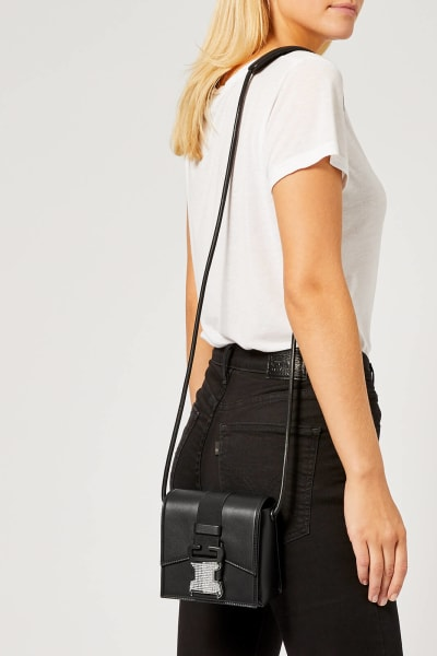 Christopher Kane Crystal Buckle Cross-Body Bag 4