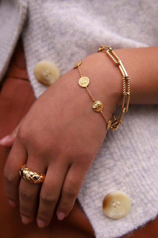 Missoma gold coterie chain bracelet 2 Preview Images