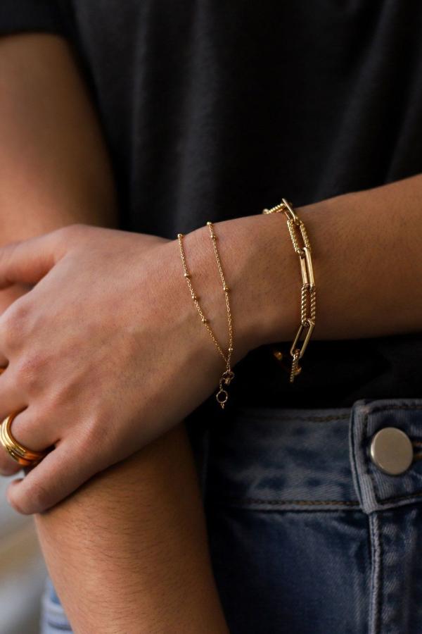 Missoma gold coterie chain bracelet 1 Preview Images