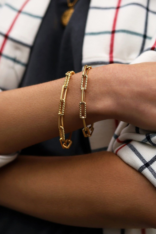 Missoma gold coterie chain bracelet 3 Preview Images