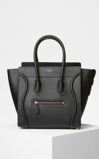 Celine Mini Luggage Tote Smooth Black 4 Preview Images
