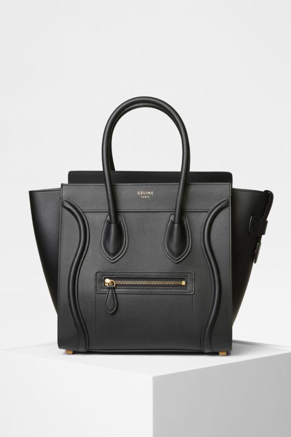 Celine Mini Luggage Tote Smooth Black 4