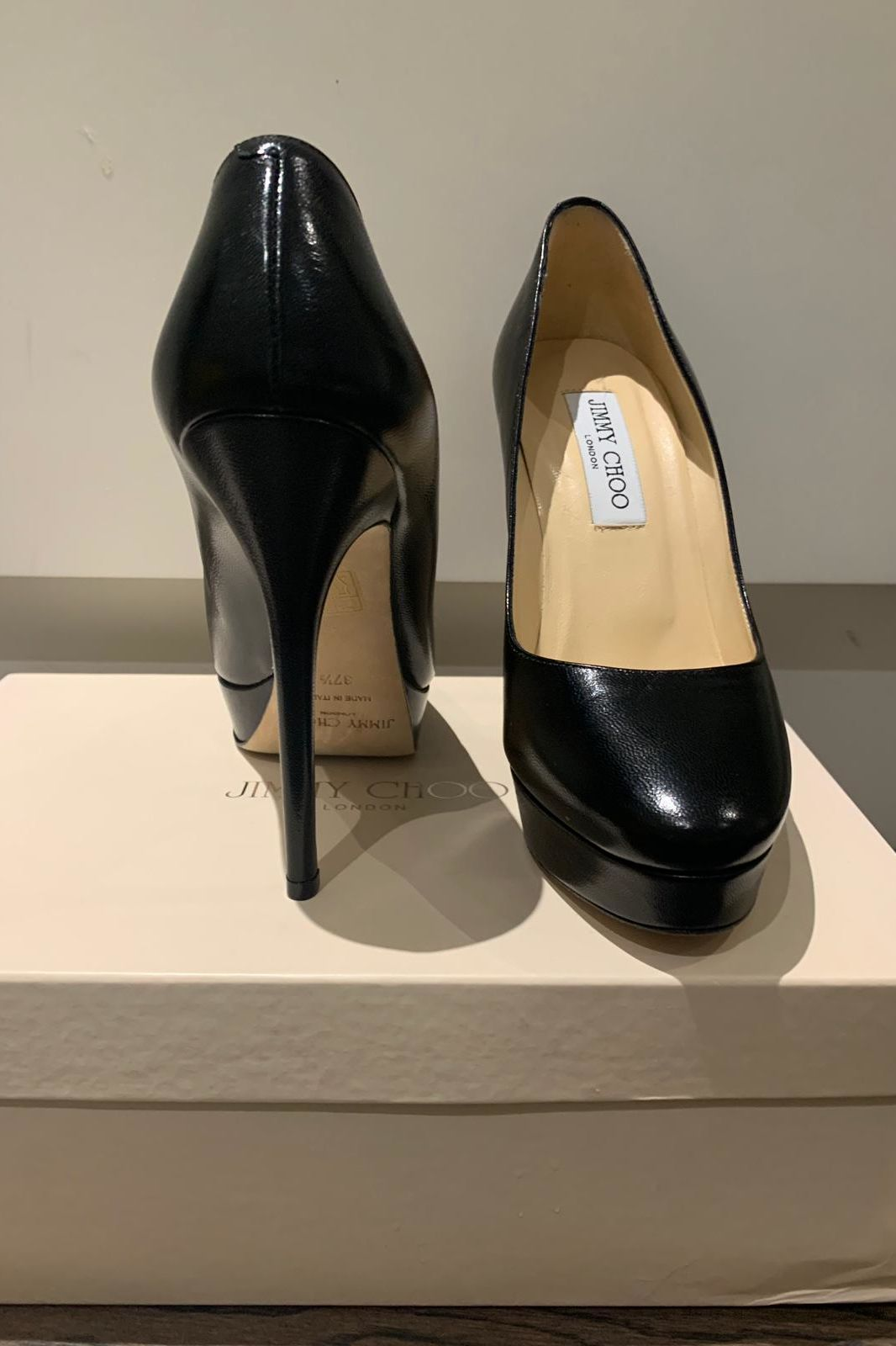 Jimmy Choo Black Leather 247 Cosmic Pumps 3 Preview Images