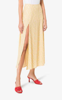 Reformation High Rise Floral midi skirt 2 Preview Images