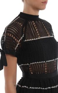 Self Portrait Crochet Scallop Mini Dress 2 Preview Images