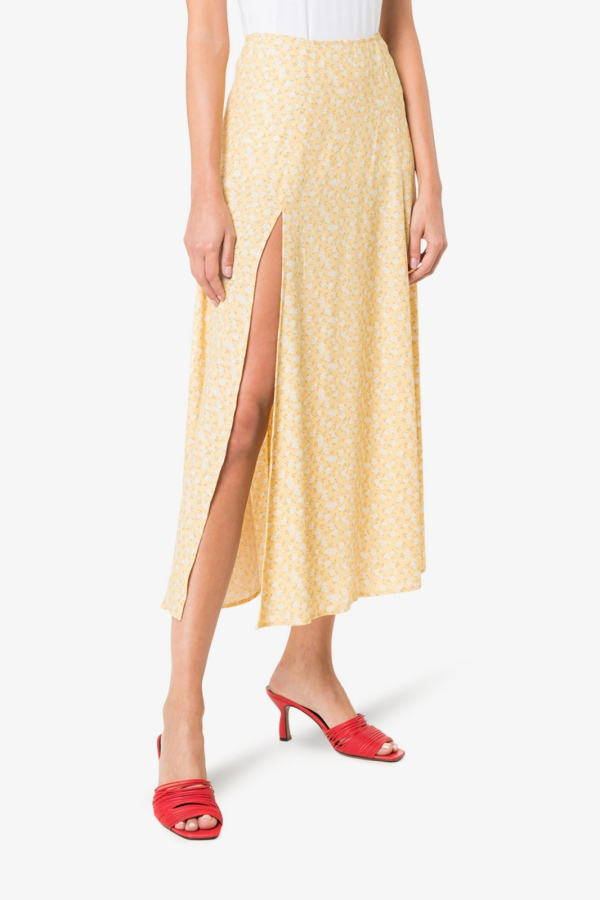 Reformation High Rise Floral midi skirt 2