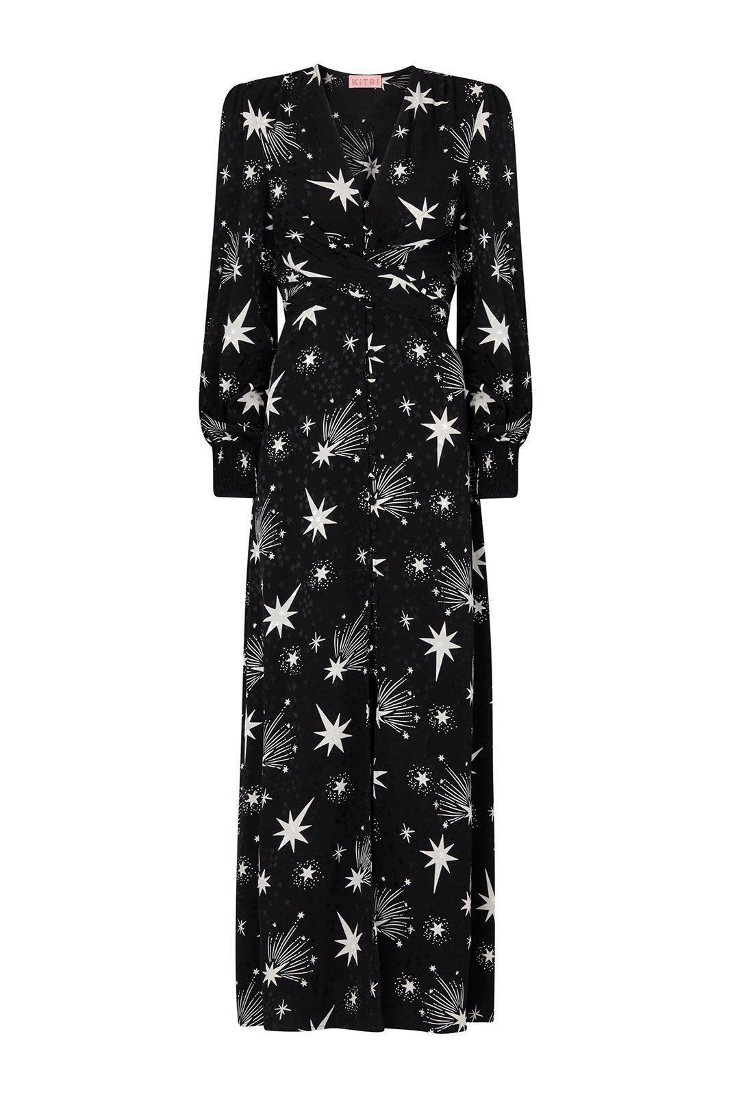 Kitri Aurora Star Print Maxi Dress Preview Images