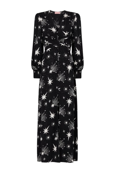 Kitri Aurora Star Print Maxi Dress