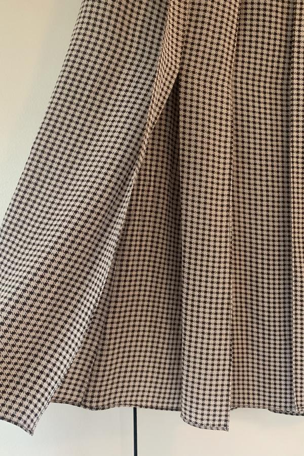 Image 3 of Joseph check pleat midi skirt
