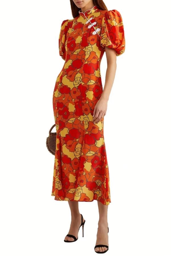 Image 2 of De La Vali bluebell floral-print dress