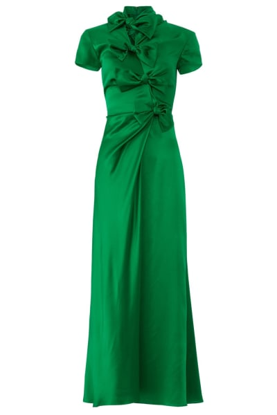 Saloni Green Kelly Dress