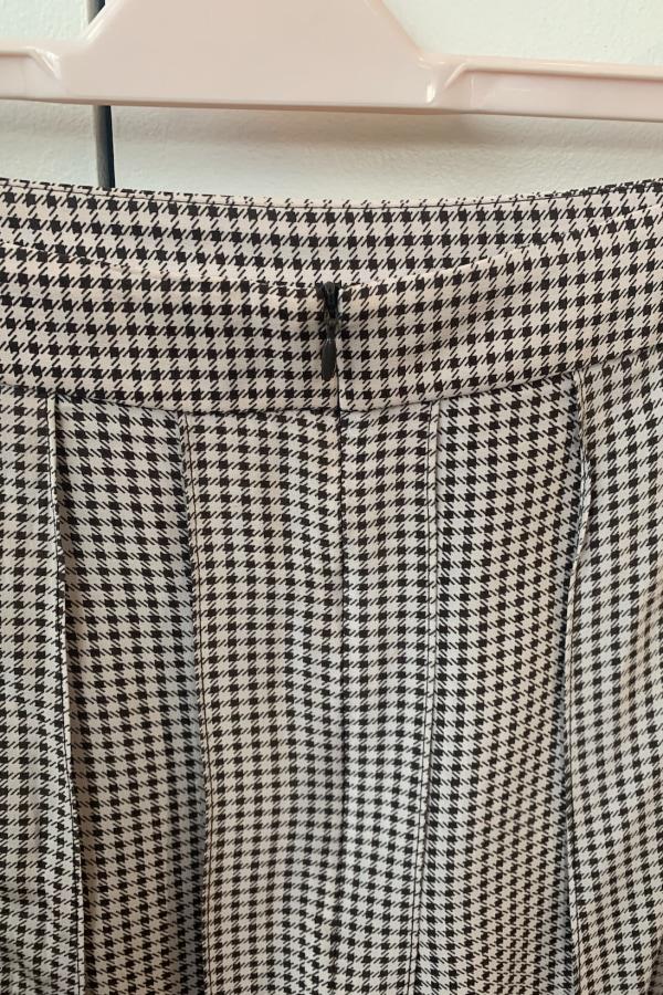 Image 4 of Joseph check pleat midi skirt
