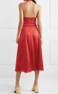 Alexa Chung Polka-dot silk-blend jacquard dress 3 Preview Images