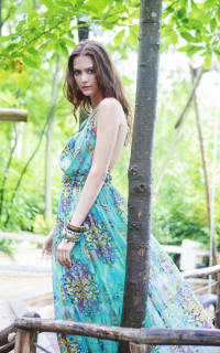 Matthew Williamson Open-back embellished printed silk-chiffon maxi dress 5 Preview Images