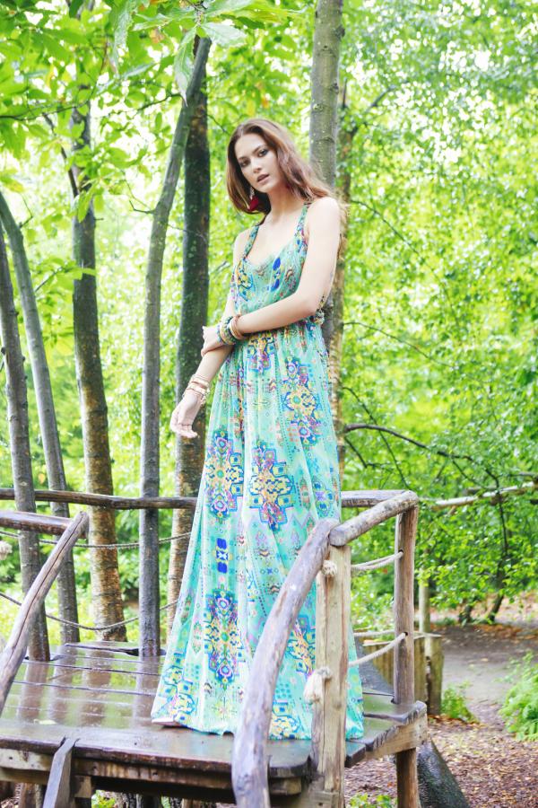 Matthew Williamson Open-back embellished printed silk-chiffon maxi dress 6