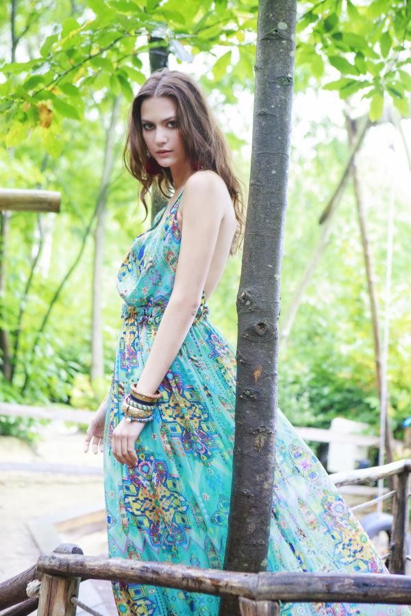Matthew Williamson Open-back embellished printed silk-chiffon maxi dress 5
