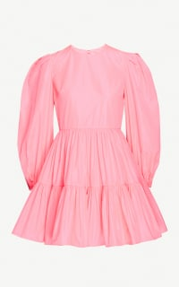Valentino Tiered Pleat Dress Preview Images