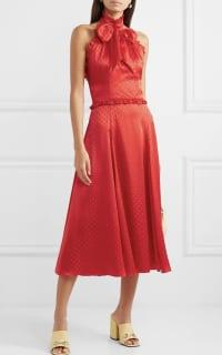 Alexa Chung Polka-dot silk-blend jacquard dress 2 Preview Images