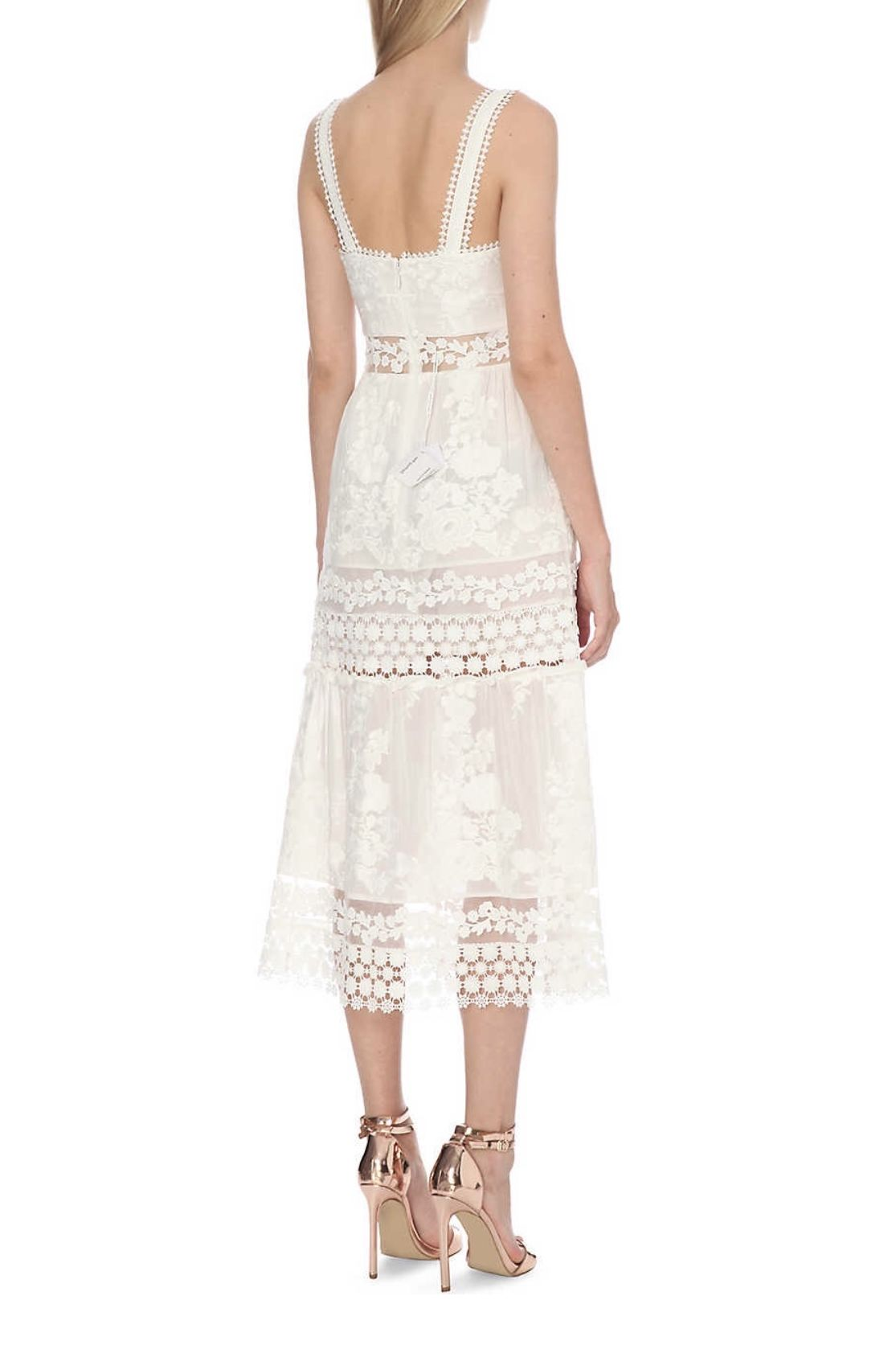 Self Portrait Sleeveless Embroidered Dress 4