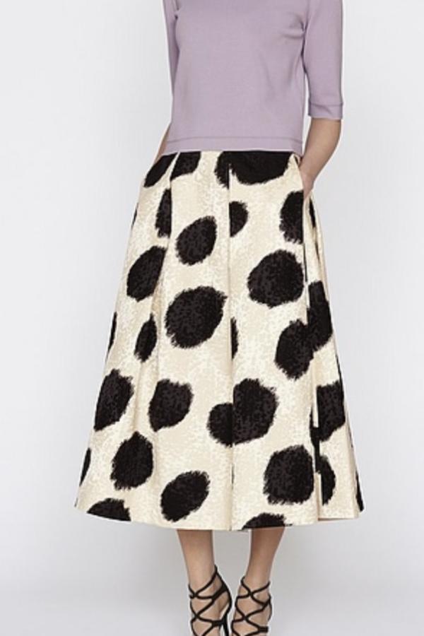 LK Bennett Monique Full Spotted Skirt 2