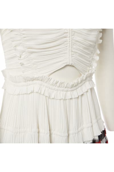 3.1 Phillip Lim Pleated Cream Dress 4