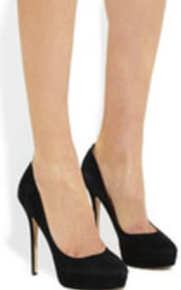 Jimmy Choo Black Leather 247 Cosmic Pumps 5 Preview Images