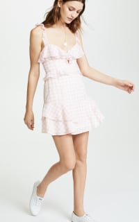 For Love and Lemons Dixie Ruffled Mini Dress  Preview Images