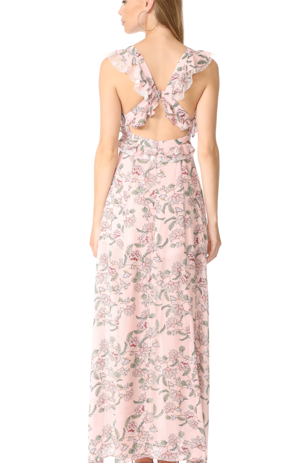 For Love and Lemons Bee Balm Floral Maxi Dress 5