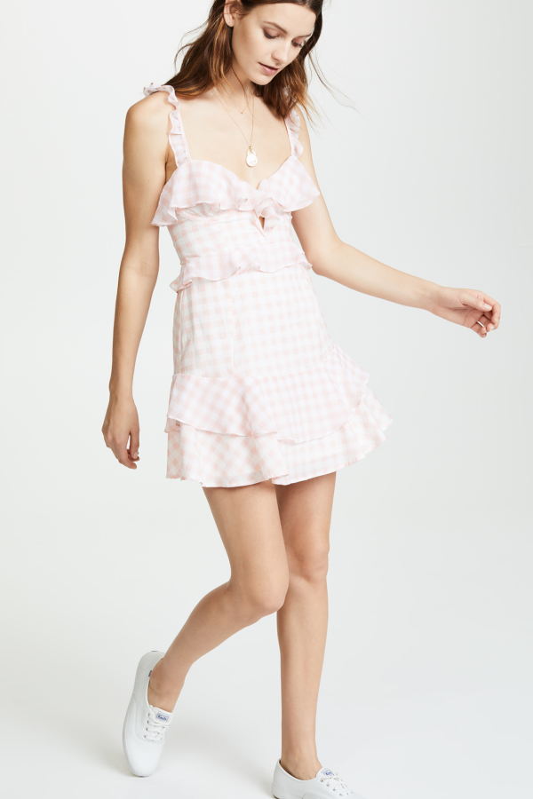 For Love and Lemons Dixie Ruffled Mini Dress