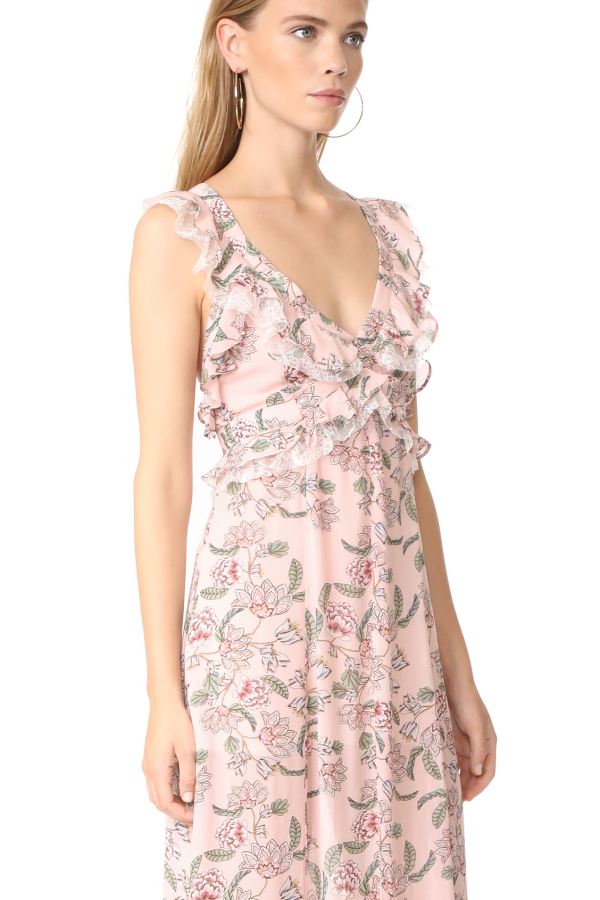 For Love and Lemons Bee Balm Floral Maxi Dress 3