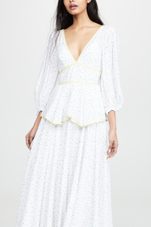 Staud Panarea floral maxi dress  4